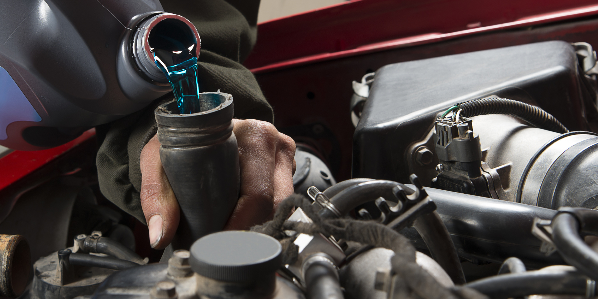 Pouring Antifreeze